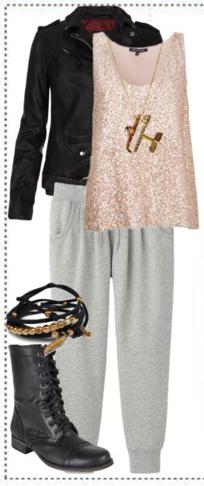 grayl-joggers-pants-pink-light-cami-black-jacket-moto-black-shoe-booties-bracelet-pend-necklace-wear-style-fashion-fall-winter-sweats-sequins-weekend.jpg