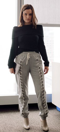 grayl-joggers-pants-sweats-laceup-black-sweater-hairr-gray-shoe-booties-athleisure-fall-winter-work.jpg