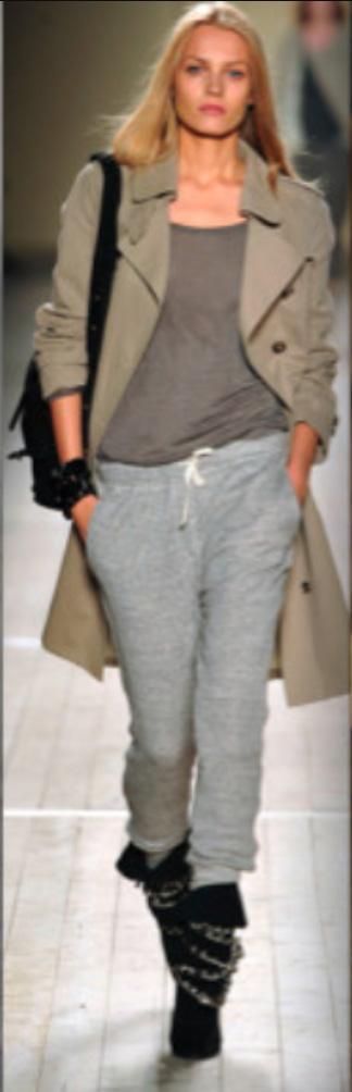 grayl-joggers-pants-grayl-tee-tan-jacket-coat-trench-black-shoe-booties-black-bag-wear-style-fashion-spring-summer-sweats-blonde-weekend.jpg