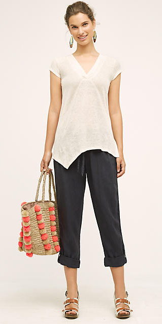 grayd-joggers-pants-white-tee-brown-shoe-sandalw-tan-bag-straw-hoops-bun-wear-style-fashion-spring-summer-hairr-weekend.jpg