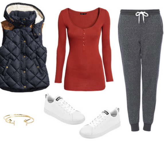 grayd-joggers-pants-red-tee-blue-navy-vest-puffer-white-shoe-sneakers-bracelet-howtowear-fashion-style-outfit-fall-winter-sweats-henley-weekend.jpg