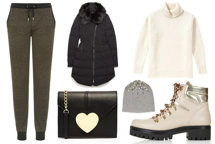 grayd-joggers-pants-white-sweater-black-jacket-coat-puffer-black-bag-white-shoe-booties-turtleneck-wear-style-fashion-fall-winter-sweats-parka-coat-beanie-weekend.jpg