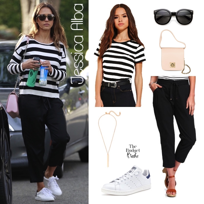 black-joggers-pants-black-tee-stripe-pink-bag-white-shoe-sneakers-sun-howtowear-fashion-style-outfit-spring-summer-hairr-weekend.jpg