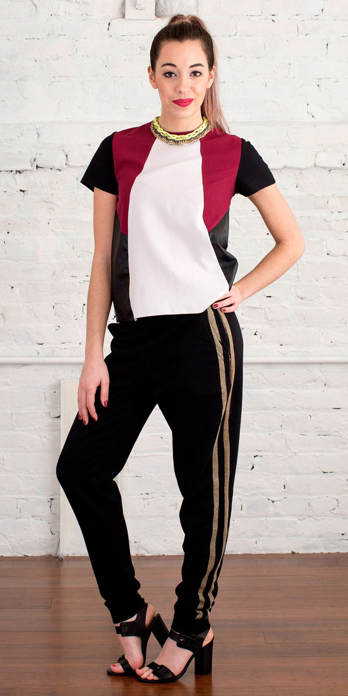 black-joggers-pants-red-top-necklace-pony-black-shoe-sandalh-stripe-wear-style-fashion-spring-summer-track-colorblock-work-hairr-office.jpg