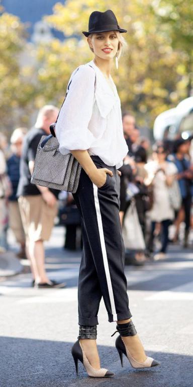 black-joggers-pants-blonde-hat-black-shoe-pumps-howtowear-fashion-fall-winter-lunch.jpg