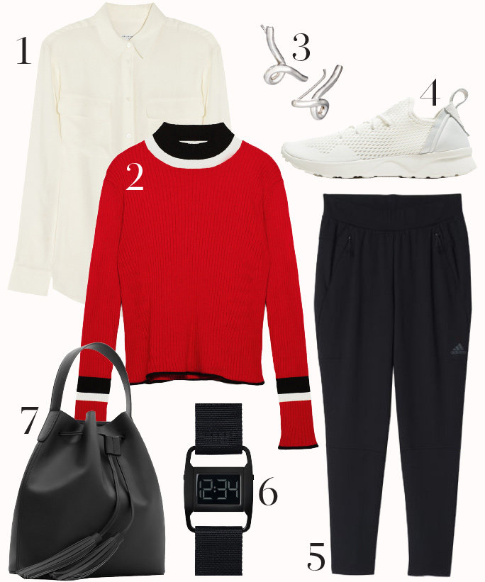 black-joggers-pants-white-collared-shirt-red-sweater-black-bag-white-shoe-sneakers-howtowear-fashion-style-outfit-fall-winter-watch-studs-lunch.jpg