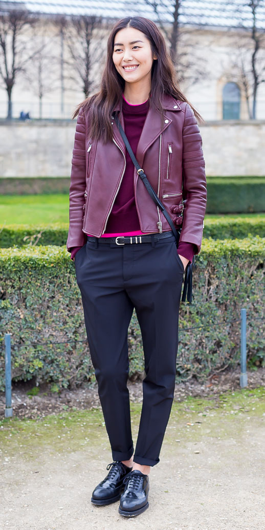 black-joggers-pants-burgundy-sweater-black-shoe-brogues-burgundy-jacket-moto-fall-winter-brun-weekend.jpg