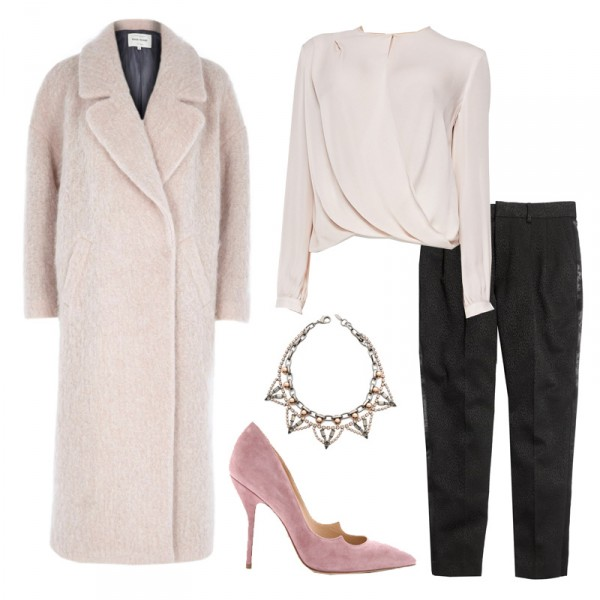 black-joggers-pants-white-top-blouse-pink-shoe-pumps-necklace-white-jacket-coat-thanksgiving-howtowear-fashion-style-outfit-fall-winter-dinner.jpg