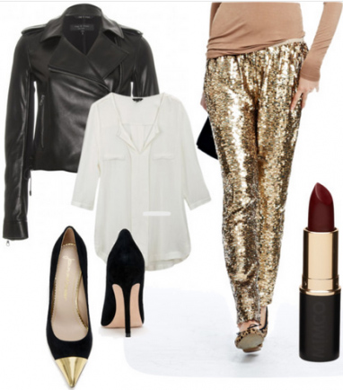 o-tan-joggers-pants-white-top-blouse-black-jacket-moto-statement-black-shoe-pumps-sequin-howtowear-fashion-style-outfit-fall-winter-holiday-dinner.jpg