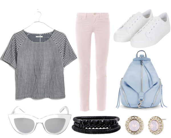 r-pink-light-skinny-jeans-black-top-howtowear-style-fashion-spring-summer-sun-studs-gingham-white-shoe-sneakers-blue-bag-pack-lunch.jpg