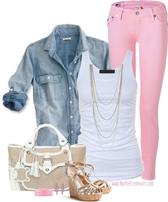 r-pink-light-skinny-jeans-white-tank-blue-light-collared-shirt-necklace-tan-shoe-sandalw-tan-bag-earrings-bracelet-howtowear-fashion-style-outfit-spring-summer-lunch.jpg