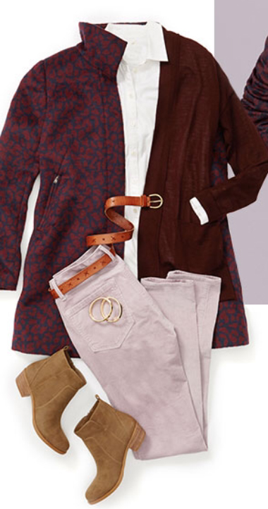 r-pink-light-skinny-jeans-white-collared-shirt-howtowear-style-fashion-fall-winter-burgundy-cardiganl-burgundy-jacket-coat-belt-tan-shoe-booties-lunch.jpg