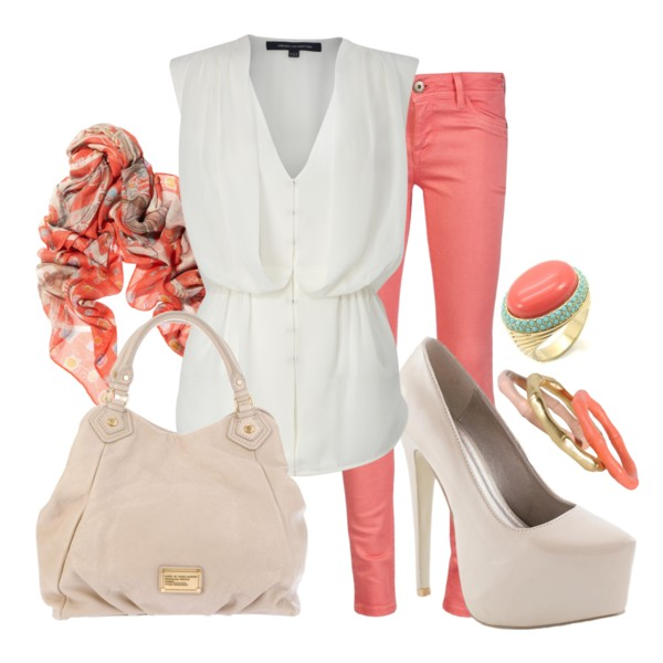 o-peach-skinny-jeans-white-top-white-bag-white-shoe-pumps-orange-scarf-print-ring-bracelet-howtowear-fashion-style-outfit-spring-summer-lunch.jpg