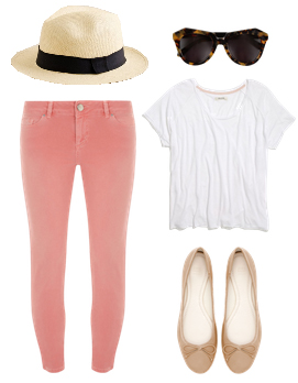 o-peach-skinny-jeans-white-tee-tan-shoe-flats-sun-hat-panama-howtowear-fashion-style-outfit-spring-summer-weekend.jpg