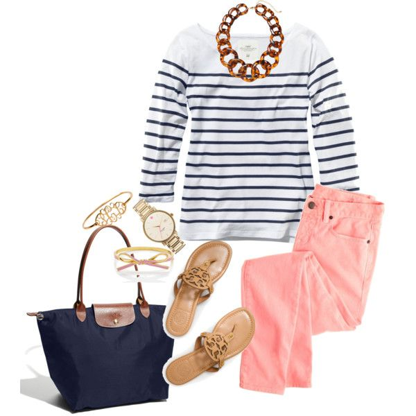 o-peach-skinny-jeans-blue-navy-tee-stripe-chain-necklace-blue-bag-tan-shoe-sandals-watch-howtowear-fashion-style-outfit-spring-summer-lunch.jpg