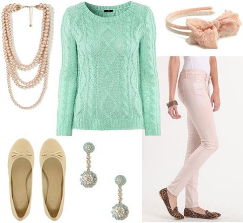 o-peach-skinny-jeans-green-light-sweater-mint-pearl-necklace-earrings-tan-shoe-flats-head-cableknit-howtowear-fashion-style-spring-summer-outfit-lunch.jpg