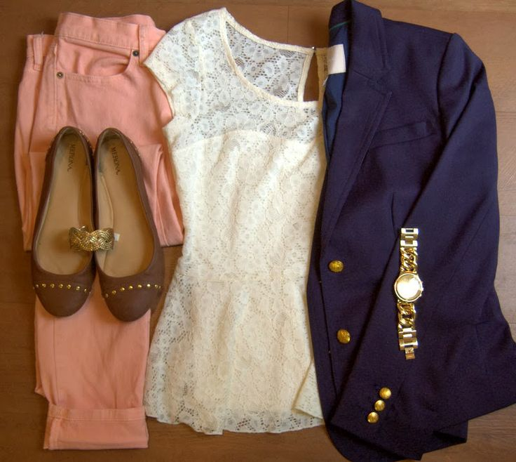 o-peach-skinny-jeans-white-top-lace-blue-navy-jacket-blazer-watch-brown-shoe-flats-bracelet-howtowear-fashion-style-outfit-spring-summer-work.jpg
