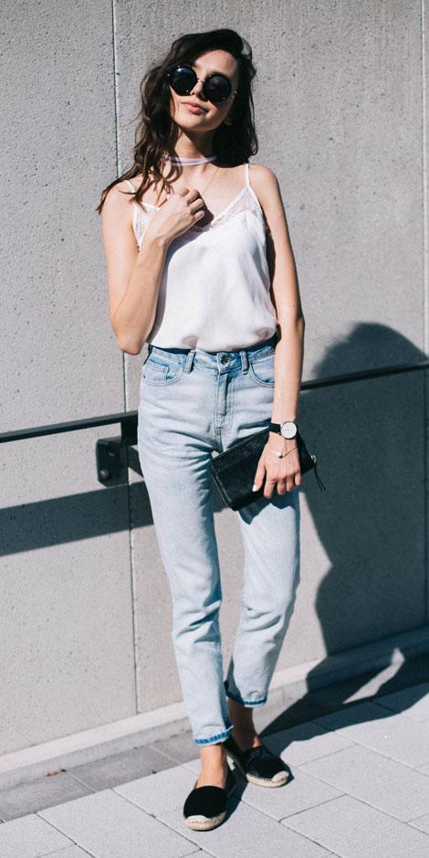 Light blue skinny jeans   HOWTOWEAR Fashion