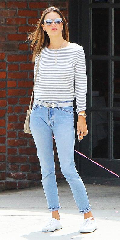 blue-light-skinny-jeans-grayl-tee-stripe-tan-bag-belt-sun-howtowear-style-fashion-spring-summer-white-shoe-sneakers-hairr-weekend.jpg