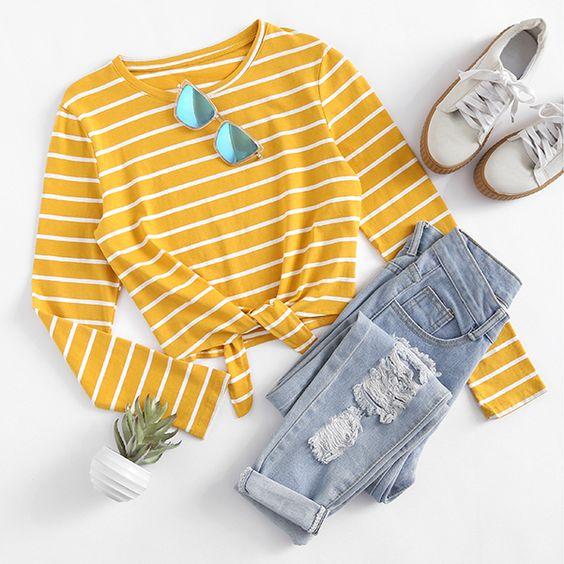 blue-light-skinny-jeans-yellow-tee-stripe-sun-white-shoe-sneakers-spring-summer-weekend.jpg
