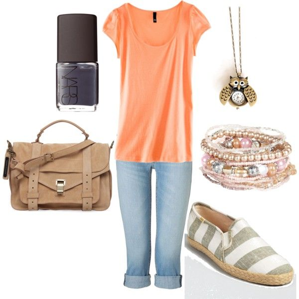 blue-light-skinny-jeans-orange-tee-necklace-pend-bracelet-tan-bag-nail-white-shoe-flats-howtowear-fashion-spring-summer-style-outfit-weekend.jpg