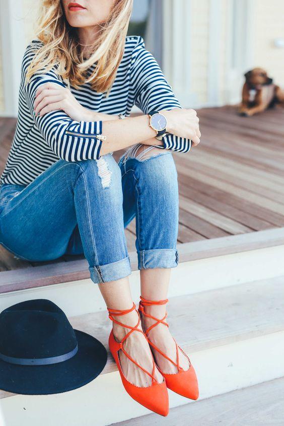 blue-light-skinny-jeans-blue-navy-tee-stripe-hat-watch-orange-shoe-flats-howtowear-fashion-style-outfit-blonde-spring-summer-weekend.jpg