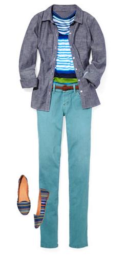 blue-light-skinny-jeans-blue-med-tee-stripe-blue-med-collared-shirt-belt-howtowear-fashion-style-outfit-spring-summer-blue-shoe-flats-weekend.jpg