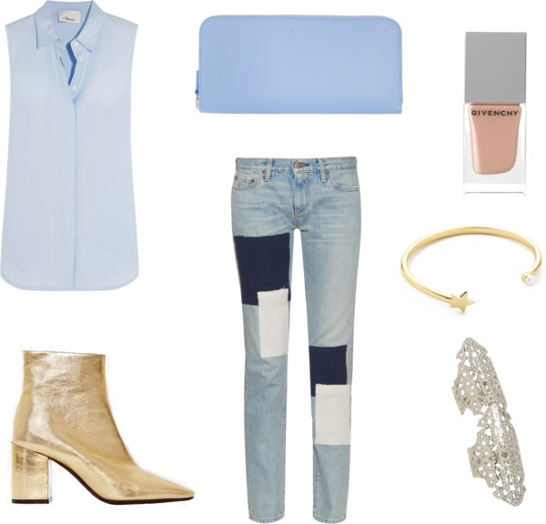 blue-light-skinny-jeans-patchwork-blue-light-collared-shirt-tan-shoe-booties-gold-ring-bracelet-nail-fall-winter-lunch.jpg