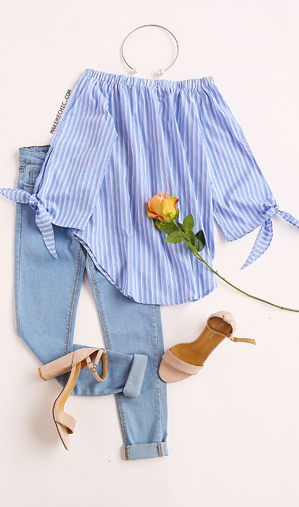 blue-light-skinny-jeans-blue-light-top-blouse-pinstripe-offshoulder-necklace-pearl-tan-shoe-sandalh-spring-summer-lunch.jpg