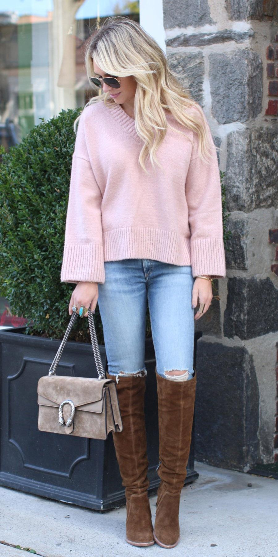 blue-light-skinny-jeans-pink-light-sweater-tan-bag-brown-shoe-boots-fall-winter-blonde-lunch.jpg