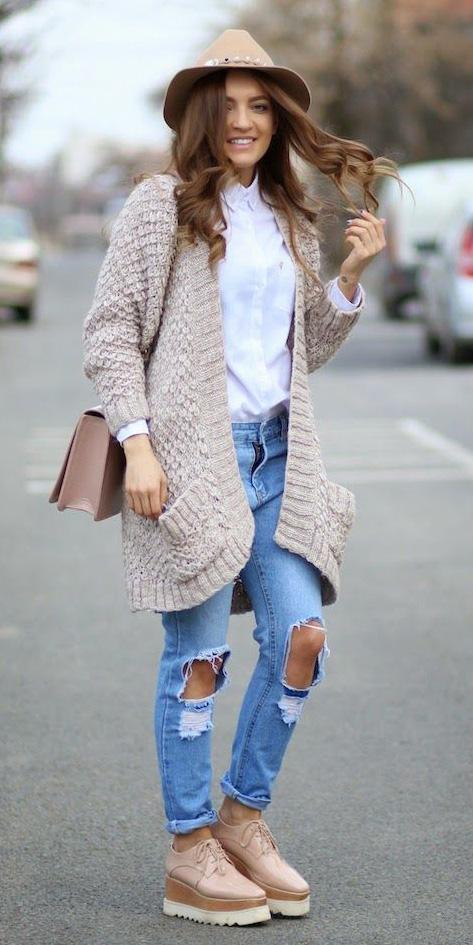 blue-light-skinny-jeans-tan-shoe-brogues-hat-tan-bag-white-collared-shirt-tan-cardiganl-fall-winter-hairr-weekend.jpg