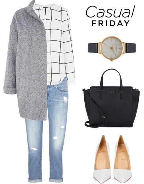 blue-light-skinny-jeans-white-top-blouse-grayl-jacket-coat-white-shoe-pumps-black-bag-howtowear-fashion-style-outfit-fall-winter-windowpane-coatigan-watch-casualfriday-work.jpg