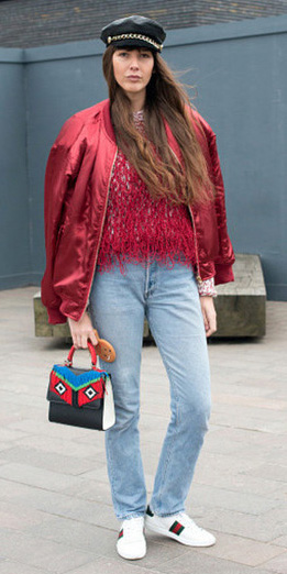 blue-light-skinny-jeans-red-sweater-red-jacket-bomber-white-shoe-sneakers-black-bag-newsboy-cap-fall-winter-hairr-weekend.jpg