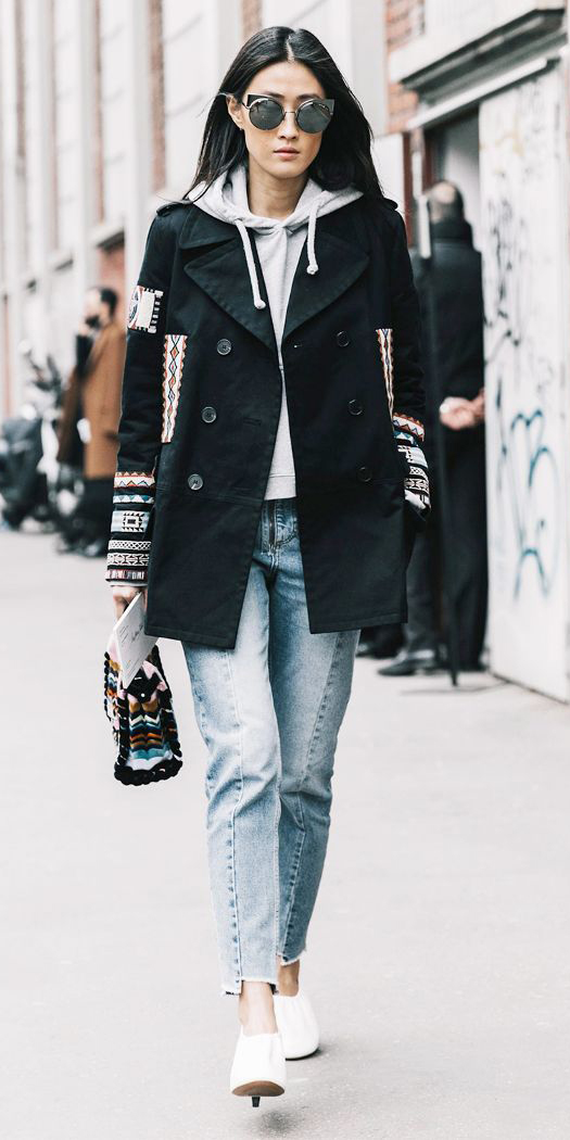 blue-light-skinny-jeans-grayl-sweater-hoodie-black-jacket-coat-peacoat-sun-brun-white-shoe-booties-fall-winter-thanksgiving-outfits-holidays-weekend.jpg