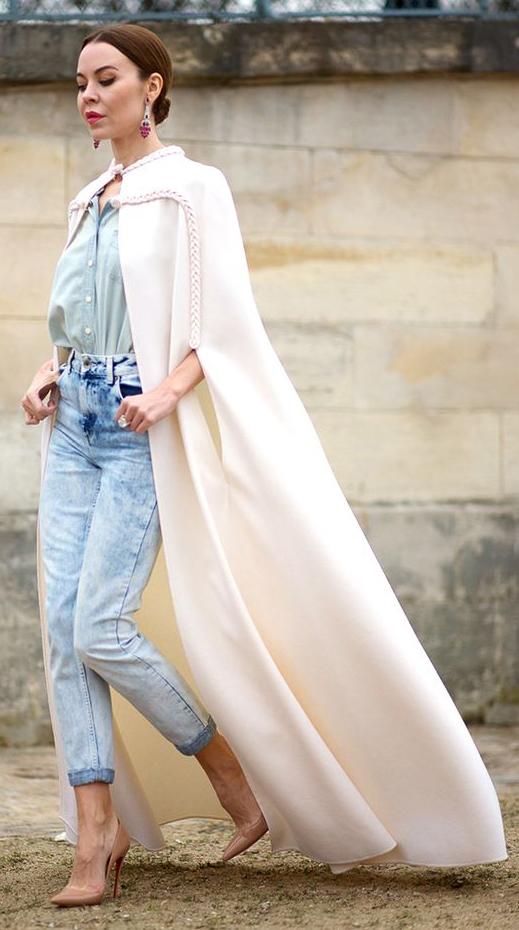 blue-light-skinny-jeans-blue-light-collared-shirt-pink-earrings-bun-hairr-tan-shoe-pumps-white-jacket-coat-spring-summer-dinner.jpg