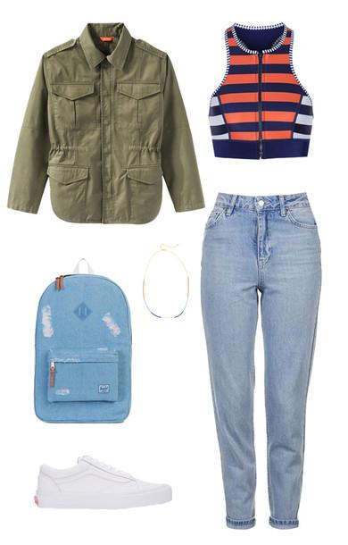 blue-light-skinny-jeans-blue-navy-crop-top-green-olive-jacket-utility-stripe-orange-crop-top-blue-bag-pack-white-shoe-sneakers-spring-summer-weekend.jpg
