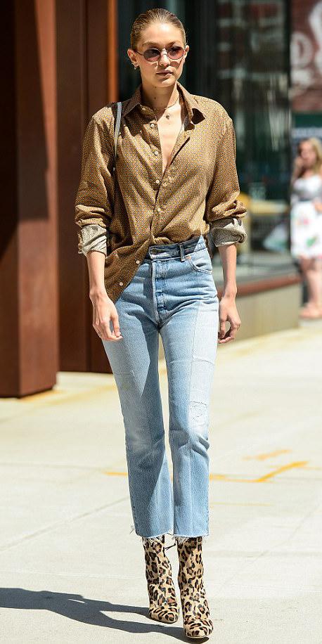 blue-light-crop-jeans-tan-collared-shirt-blonde-sun-gigihadid-tan-shoe-booties-leopard-print-fall-winter-weekend.jpg