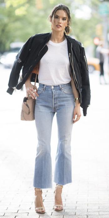 blue-light-crop-jeans-flare-white-tee-black-jacket-bomber-tan-shoe-sandalh-tan-bag-brun-spring-summer-lunch.jpg