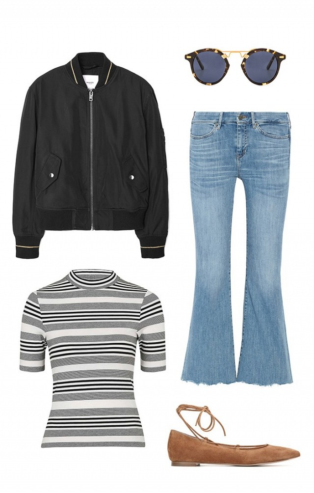 blue-light-crop-jeans-grayl-tee-stripe-cognac-shoe-flats-black-jacket-bomber-sun-howtowear-fashion-style-outfit-spring-summer-lunch.jpg