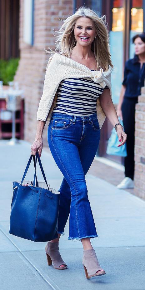 blue-med-crop-jeans-black-tee-stripe-white-sweater-tan-shoe-booties-black-bag-tote-blonde-wear-fashion-style-spring-summer-lunch.jpg