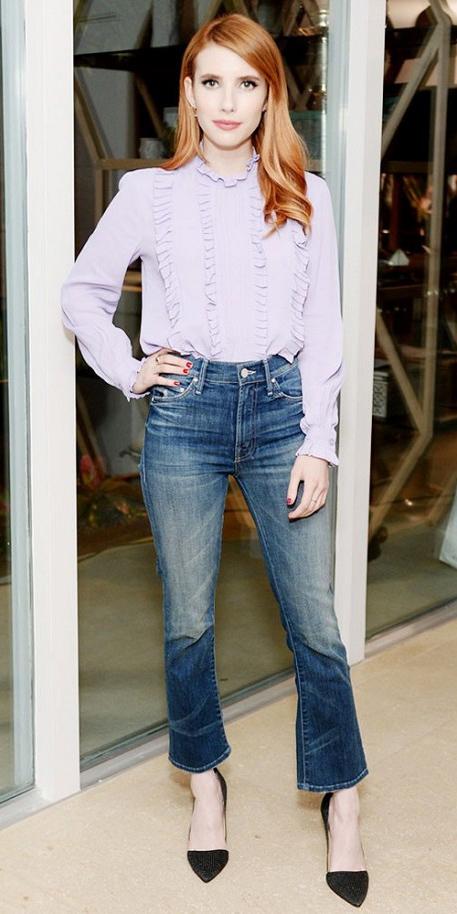 blue-med-crop-jeans-purple-light-top-blouse-black-shoe-pumps-wear-fashion-style-spring-summer-emmaroberts-lavender-hairr-dinner.jpg