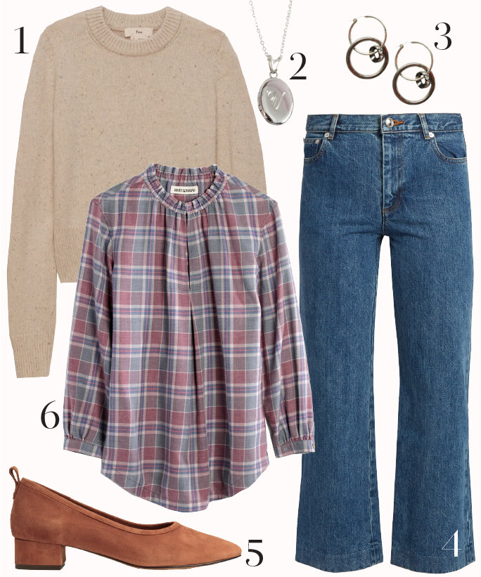 blue-med-crop-jeans-pink-light-top-blouse-plaid-tan-sweater-howtowear-fashion-style-outfit-fall-winter-cognac-shoe-pumps-block-necklace-earrings-casual-friday-tuckinblouse-lunch-work.jpg