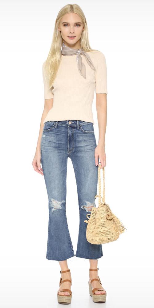 blue-med-crop-jeans-pink-light-sweater-tan-scarf-neck-cognac-shoe-sandals-tan-bag-straw-wear-fashion-style-spring-summer-wedge-blonde-lunch.jpg