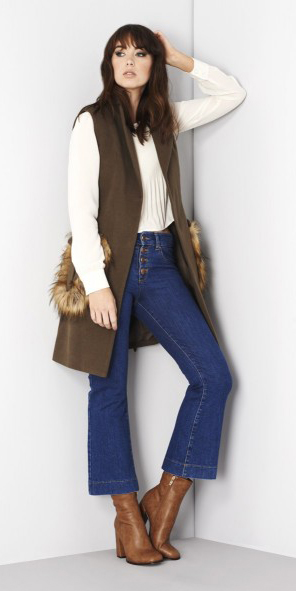 blue-med-crop-jeans-flare-white-top-blouse-brown-vest-cognac-shoe-booties-fall-winter-hairr-lunch.jpg