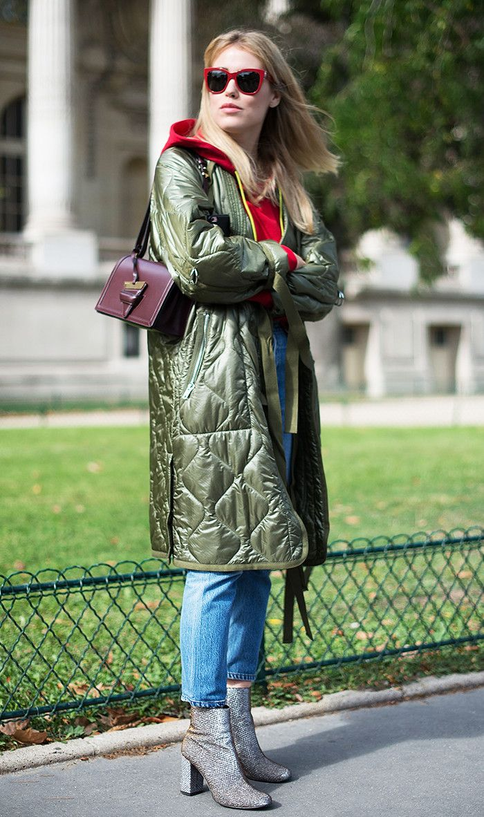 blue-med-crop-jeans-red-sweater-sweatshirt-sun-blonde-burgundy-bag-gray-shoe-booties-green-olive-jacket-coat-parka-fall-winter-lunch.jpg