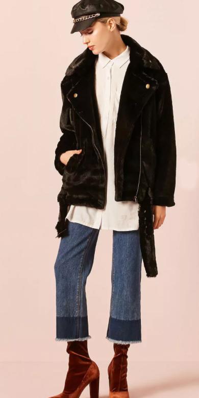 blue-med-crop-jeans-white-collared-shirt-cognac-shoe-booties-velvet-shearling-bun-newsboy-hat-black-jacket-moto-fall-winter-blonde-lunch.jpg