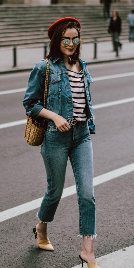 blue-med-crop-jeans-blue-med-jacket-jean-red-tee-stripe-tan-bag-hat-sun-tan-shoe-pumps-brun-spring-summer-hat-lunch.jpg