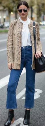 blue-med-crop-jeans-white-top-blouse-tan-jacket-snakeskin-earrings-bun-black-shoe-booties-black-bag-wear-fashion-style-fall-winter-brun-lunch.jpg