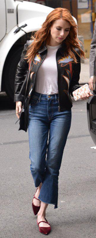 blue-med-crop-jeans-white-tee-black-jacket-moto-burgundy-shoe-flats-black-bag-wear-fashion-style-fall-winter-emmaroberts-hairr-lunch.jpg