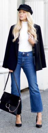 blue-med-crop-jeans-white-top-black-jacket-blazer-black-shoe-pumps-black-bag-newsboy-hat-wear-fashion-style-fall-winter-blonde-lunch.jpg